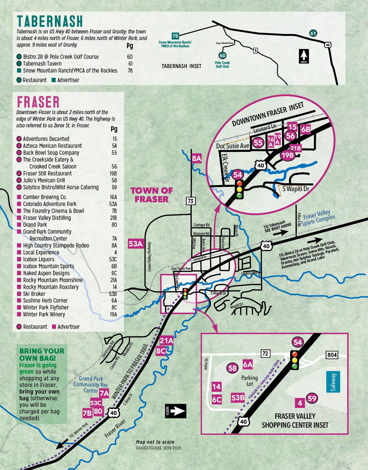 Fraser & Tabernash Map - Colorado