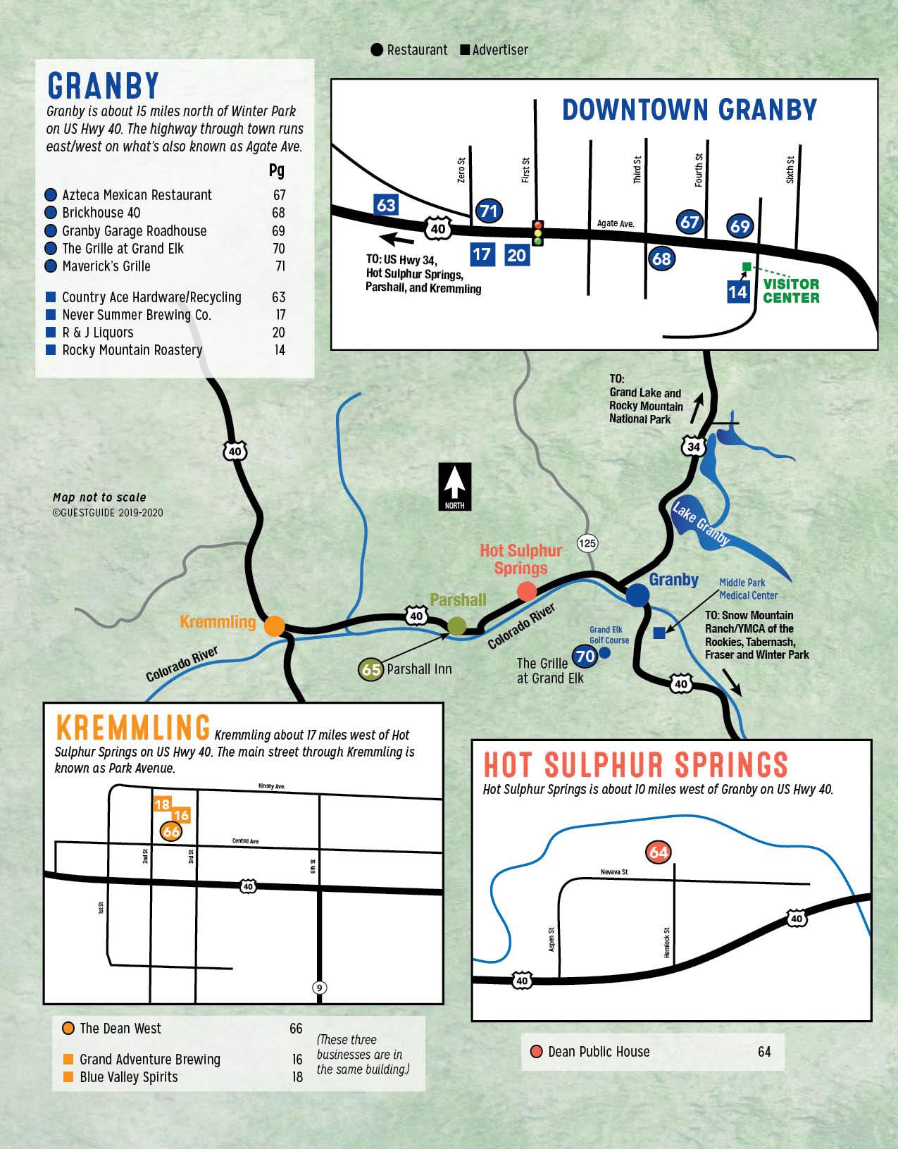 Granby to Kremmling Map - Colorado