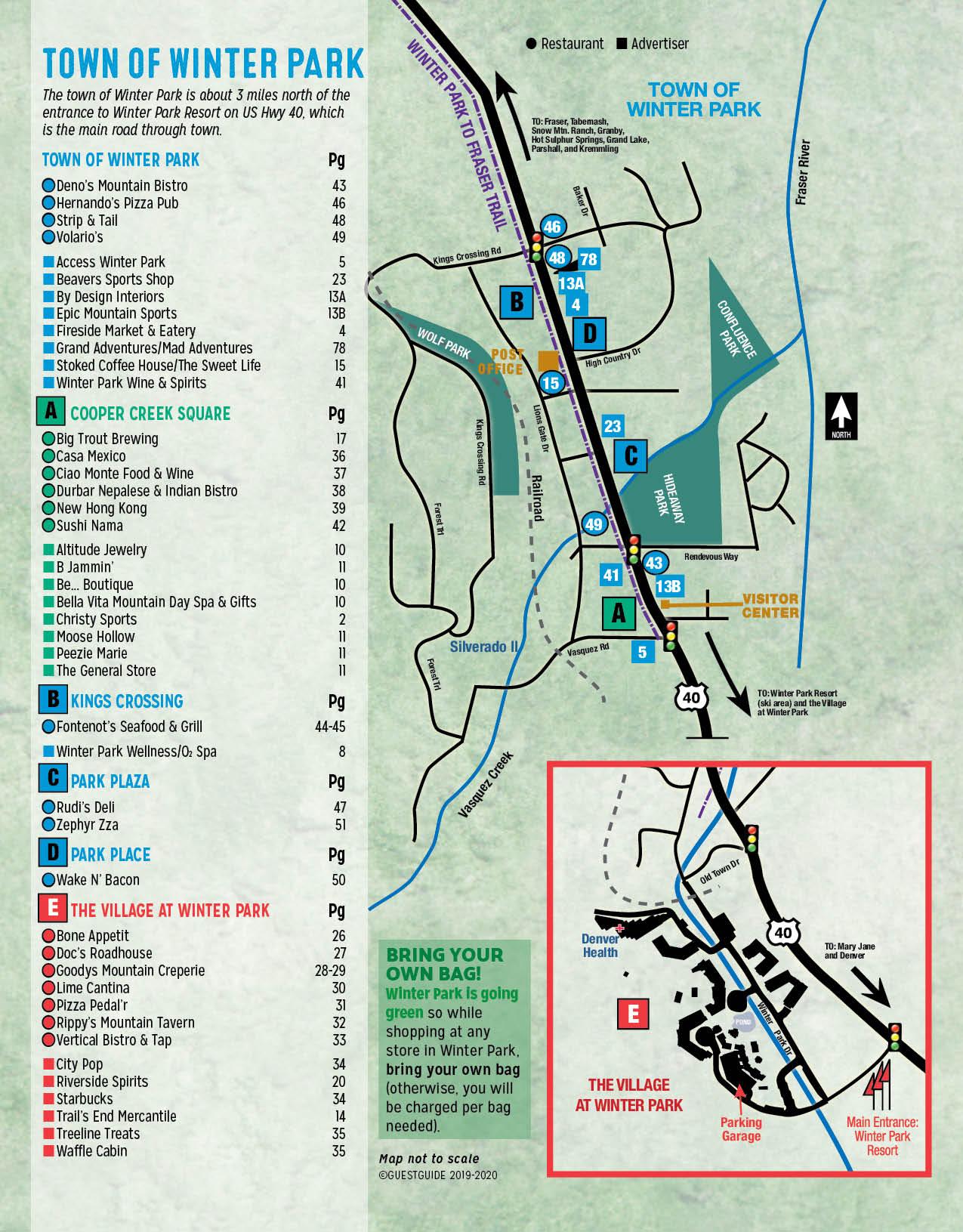 Winter Park Map - Colorado
