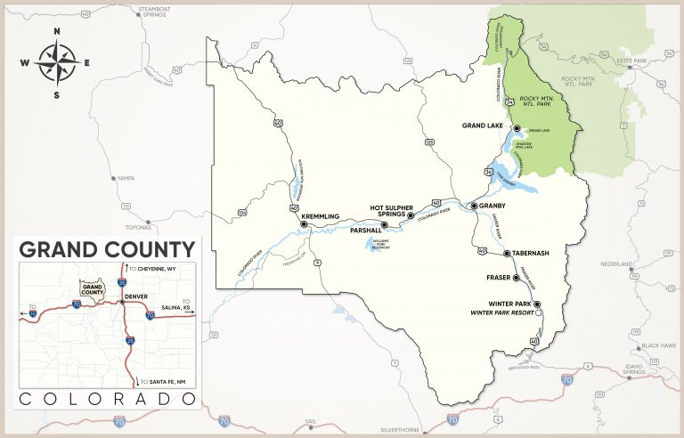 Grand County, Colorado Map